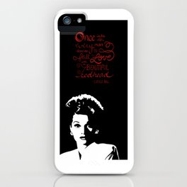 Lucille Ball Beautiful Redhead iPhone Case