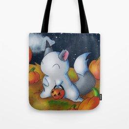 Ghost in the Pumpkins Tote Bag