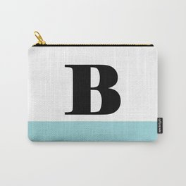 Monogram Letter B-Pantone-Limpet Shell Carry-All Pouch