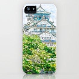 Osaka Castle Surrounded By Beauty iPhone Case