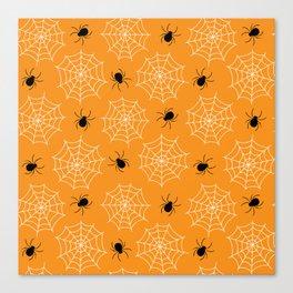 Halloween Spider Web Seamless Pattern Canvas Print