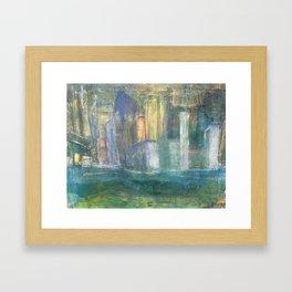 Light in City Framed Art Print