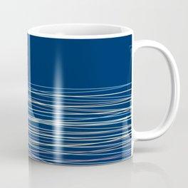 Blue thread , abstract Coffee Mug