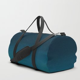 Navy blue teal hand painted watercolor paint ombre Duffle Bag