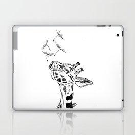 Giraffe blowing dandelion seeds Laptop & iPad Skin