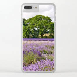 Hampshire Lavender Fields Clear iPhone Case