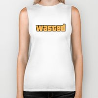 wasted rita Biker Tanks featuring Wasted by D-fens