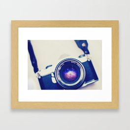 galaxy lens Framed Art Print