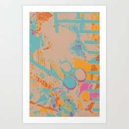 Railings Collage Art Print