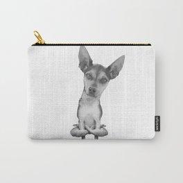 Yogi Doggie cute dog in yoga asana , cool funny design Carry-All Pouch