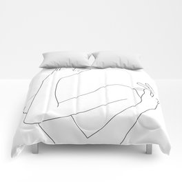Crossed arms illustration - Jill Comforters