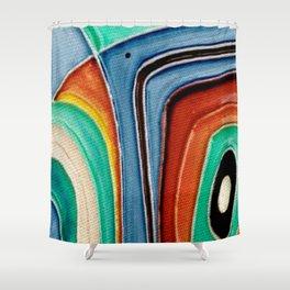 The Kandinsky's Chubby Bird 1 Shower Curtain