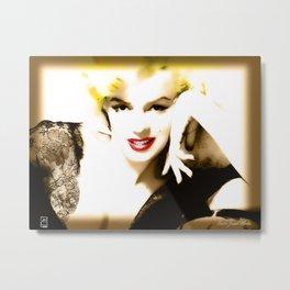 Portrait of  Marilyn Monroe Metal Print