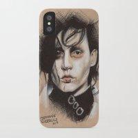 edward scissorhands iPhone & iPod Cases featuring Edward Scissorhands by Stephanie Nuzzolilo