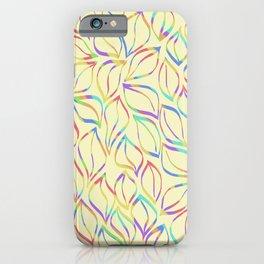 Rainbow Petals on Yellow iPhone Case