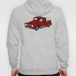 Best Labrador Buddies In Old Red Truck Hoody