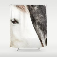 horses Shower Curtains featuring Horses by MarianaLage