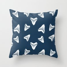 Sharks Tooth Pattern Throw Pillow