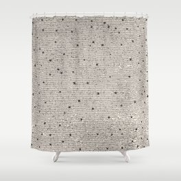 Sideral Heavens - Black Shower Curtain