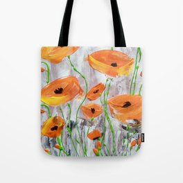 Abstract Orange Poppies Tote Bag