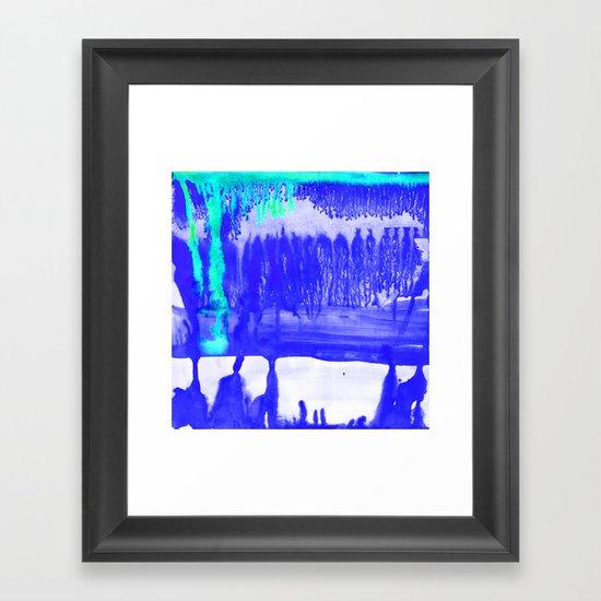 Dip Dye Ultramarine Framed Art Print