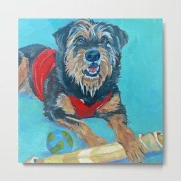 Rescue Mutt Dog Portrait Metal Print