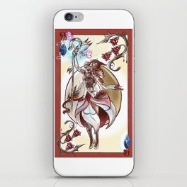 Queen of Diamonds White Mage iPhone Skin