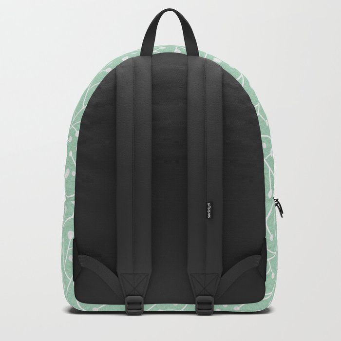 Mint Berry Branches Backpack