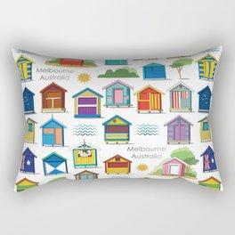 Melbourne beach, Australia (pattern) Rectangular Pillow
