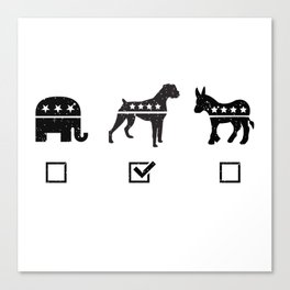VOTE BOXER Canvas Print