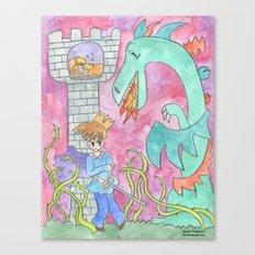 Sleeping Beauty's Prince Canvas Print