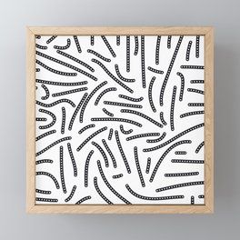 long and short dotted lines Framed Mini Art Print