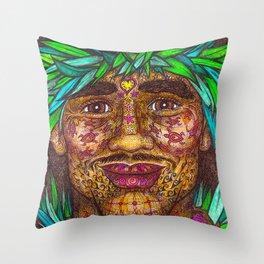 Wisdom Keeper Color #58 (Vitality) Throw Pillow