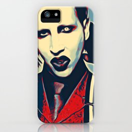 Manson Aggressive Portrait Artistic Illustration Scary Poster Style iPhone Case