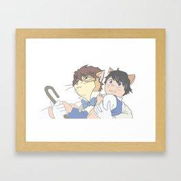The Cat Returns - Oikage Framed Art Print