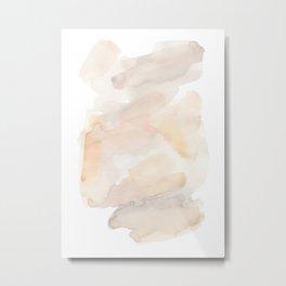 Sandy Calm - Elegant Abstract Watercolor Art Metal Print