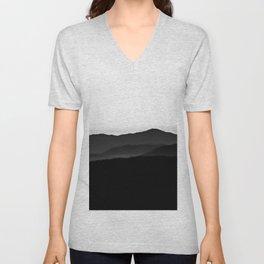 Black hills, pale sky Unisex V-Neck