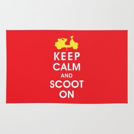 Keep Calm and Scoot On (For the Love of Scooters) Rug
