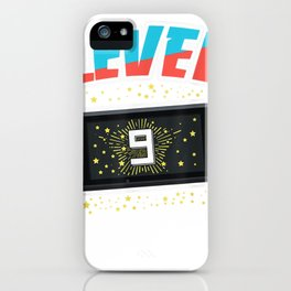 Level 9 Birthday Shirt Boy 9 Years Old Video Games Gift T-Shirt iPhone Case