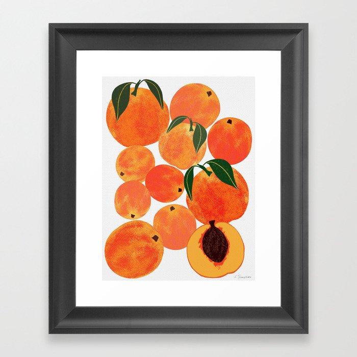 Peach Harvest Gerahmter Kunstdruck