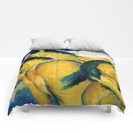 "Franz Marc ""Little Yellow Horses"" Comforters"