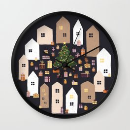 The Christmas City II Wall Clock
