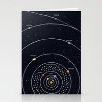 solar system Stationery Cards featuring Solar system by James White