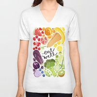 fitzgerald V-neck T-shirts featuring Eat Well by Emma Fitzgerald