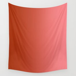 Red to Pastel Red Vertical Linear Gradient Wall Tapestry