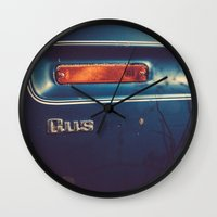 wisconsin Wall Clocks featuring Wisconsin Flatbed by Memoirs of a Pilgrim - The Shop
