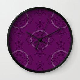 Font Pattern Wall Clock