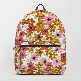 Golden Flowers Backpack
