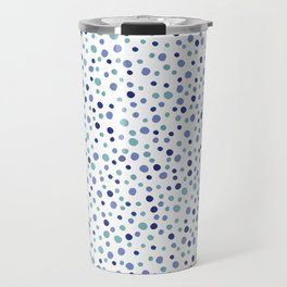 Bubble Rocks-Blue : Part of Organic Medallion collection Travel Mug