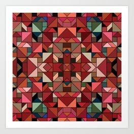 Latino Tiles Art Print